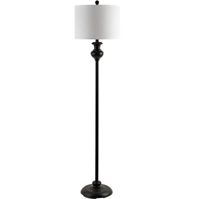 Erlan Floor Lamp - Antique Black - Safavieh
