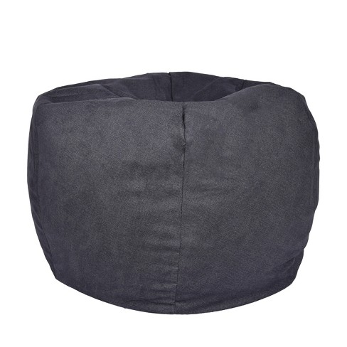 Extra Large Brushed Denim Bean Bag - Reservation Seating™ - image 1 of 3