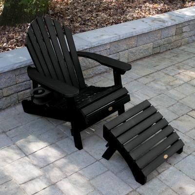Hamilton Folding U0026 Reclining Adirondack Chair With Ottoman U0026 Easy Add Cup  Holder   Highwood : Target