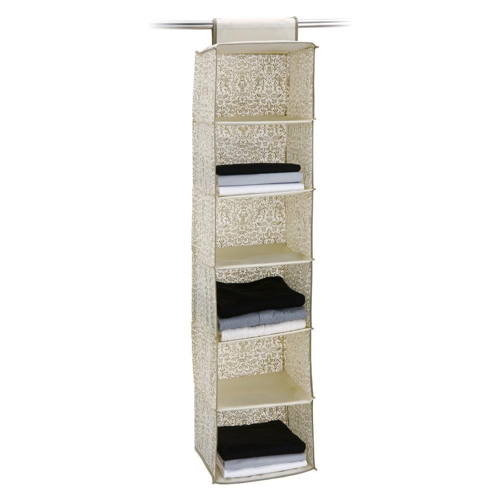 Image of Neu Home Set of 2 Accessory Bag 6 Shelf Medium Off-White, Beige
