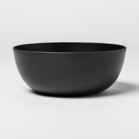 37oz Plastic Cereal Bowl Black - Room Essentials™ - image 1 of 2