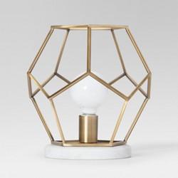 Geneva Glass Globe With Marble Base Task Lamp Brass