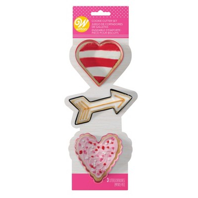 Wilton 3ct Valentine Metal Cookie Cutters