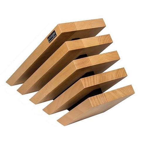 Arte Legno Beechwood 5 Element 10 Capacity Wooden Magnetic Knife Block Holder - image 1 of 1