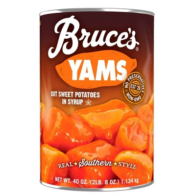 Bruce's Yams Cut Sweet Potatoes in Syrup 40oz