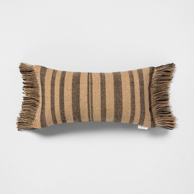 Outdoor Pillow Stripe Black / Natural - Hearth & Hand™ with Magnolia