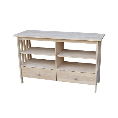 """Concepts TV Stand for TVs up to 52"""" Unfinished - International Concepts"""