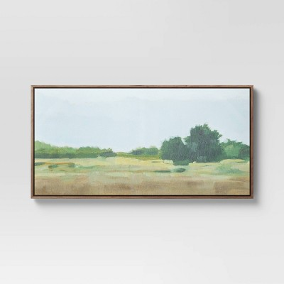 "47"" x 24"" Country Landscape Framed Wall Canvas - Threshold™"