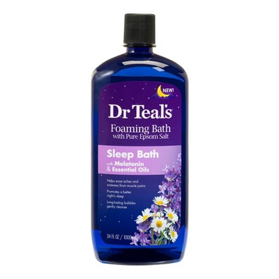Dr Teal's Melatonin & Essential Oils Sleep Foaming Bath Soaks - 34 fl oz
