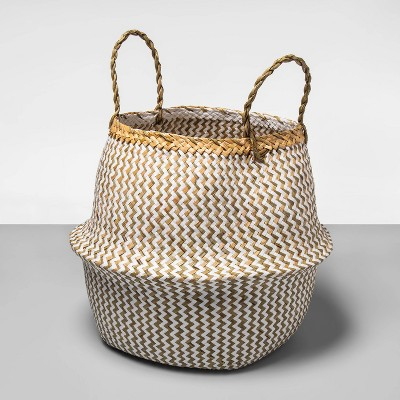 Round Palm Leaf Decorative Baskets White - Opalhouse™