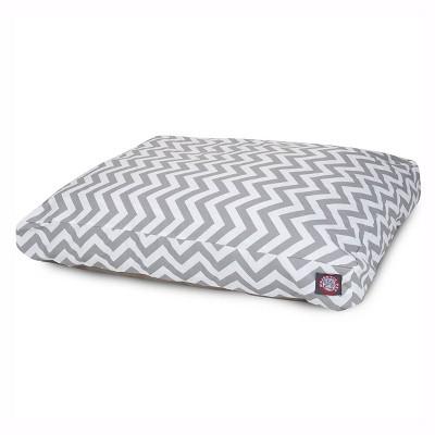 Majestic Pet Chevron Rectangle Dog Bed - Gray - Large - L