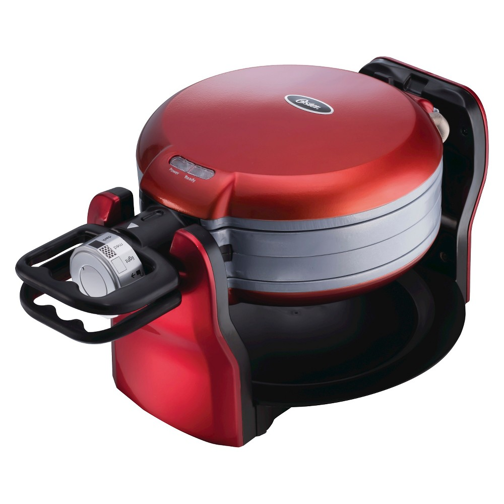 Oster DuraCeramic Double Flip Waffle Maker – Red CKSTWF20R 51090535