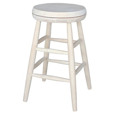 """Jonathan Swivel Scooped Seat 24"""" Counter Height Barstool - Unfinished - International Concepts"""