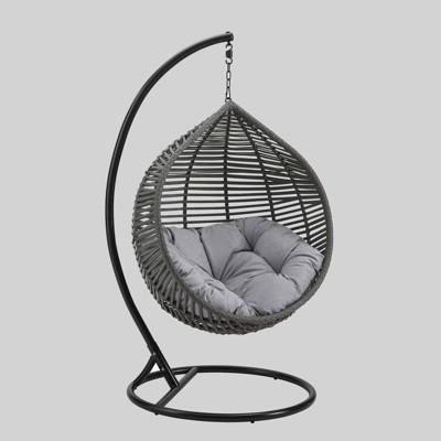 Garner Teardrop Swing Patio Chair Gray - Modway