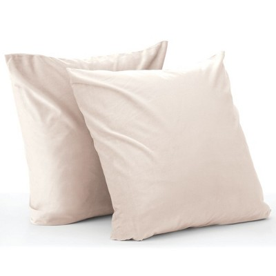 mDesign Decorative Faux Linen Pillow Case Cover 20 x 20 Inches - 2 Pack