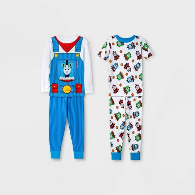 Toddler Boys' 4pc Thomas & Friends Pajama Set - White