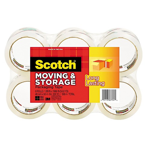 "Scotch® Moving & Storage Tape, 1.88"" x 54.6yds, 3"" Core, Clear, 6 Rolls pk - image 1 of 1"