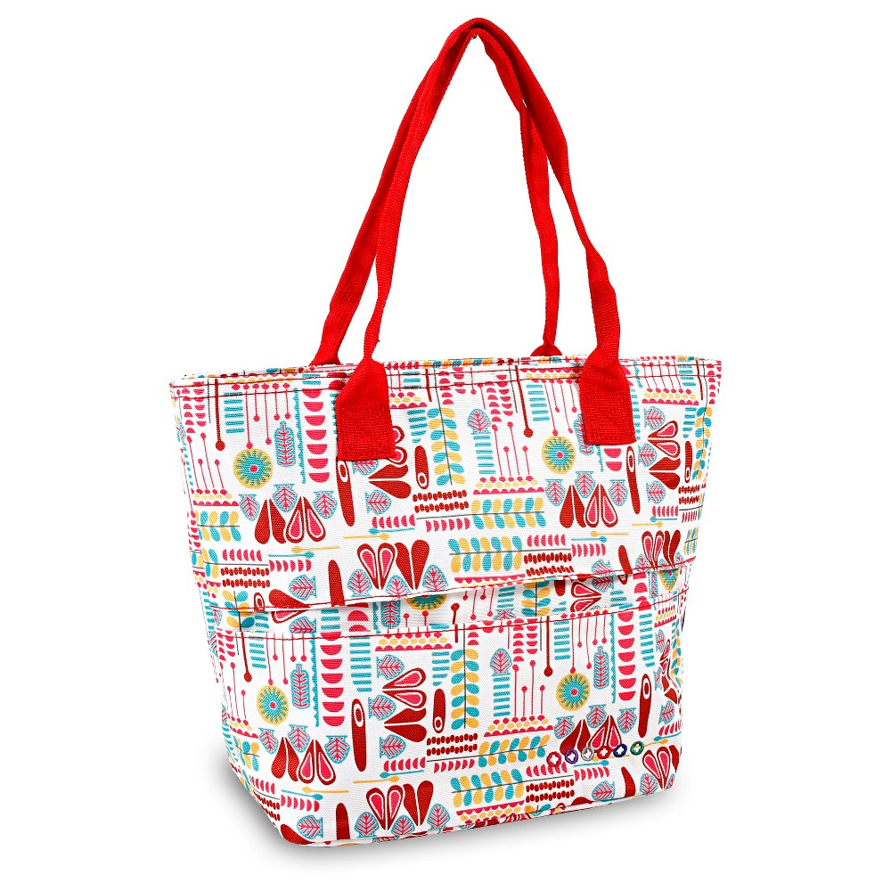 Image of J World Lola Lunch Tote - Heart Factory, Red