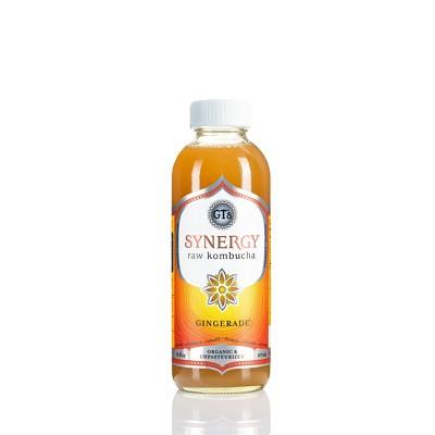 G.T.'s Enlightened Gingerade Organic Vegan Raw Kombucha - 16 fl oz Bottle