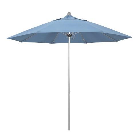 Venture 9' Silver Market Umbrella in Air Blue - California Umbrella - image 1 of 1