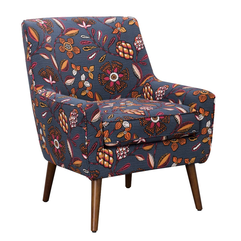 Gerrit Modern Accent Chair Floral Blue/Pink - HomePop was $349.99 now $262.49 (25.0% off)