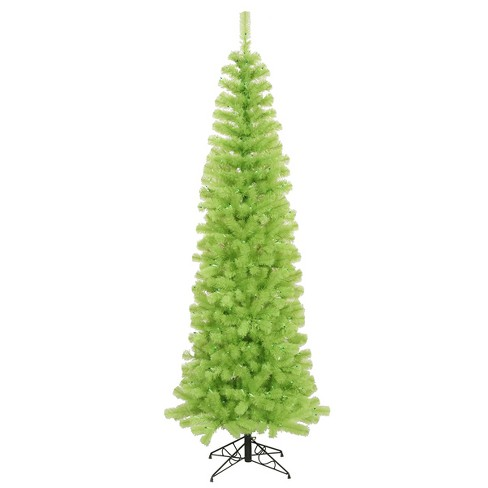 Vickerman 12 Prelit Artificial Christmas Tree Chartreuse Green Pencil Green Lights