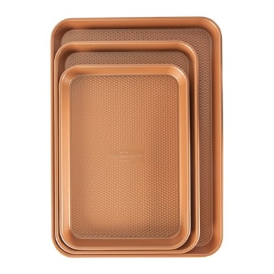 Ovenware Cookie Set 3pk Copper - Threshold™