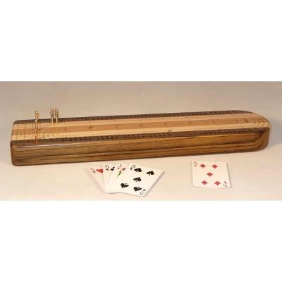 """18"""" Solid Hardwood Cribbage Board Game"""