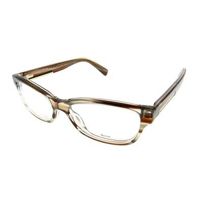 Marc by Marc Jacobs  KVI Unisex Rectangle Eyeglasses Striped Brown 52mm