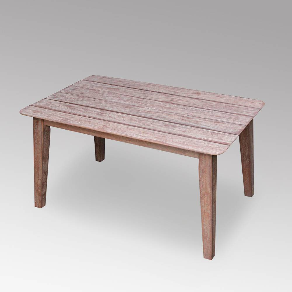 Image of Abbey Outdoor Patio Coffee Table - Weathered White - Cambridge Casual, Beige