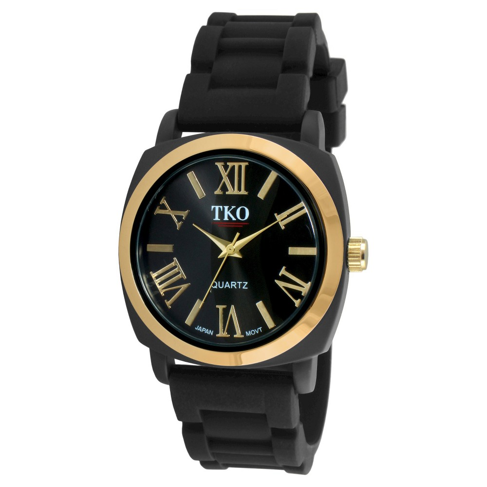 Women's Tko Rubber Strap Watch - Black, Black/Gold