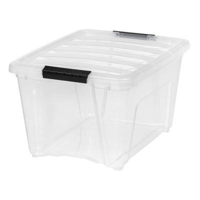 IRIS 5pk 32qt Stack and Pull Storage Bin Latching