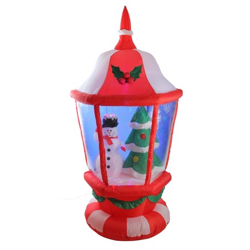 Christmas Tree Inflatable.Lb International 6 Pre Lit Inflatable Lantern With Snowman And Christmas Tree Outdoor Decoration
