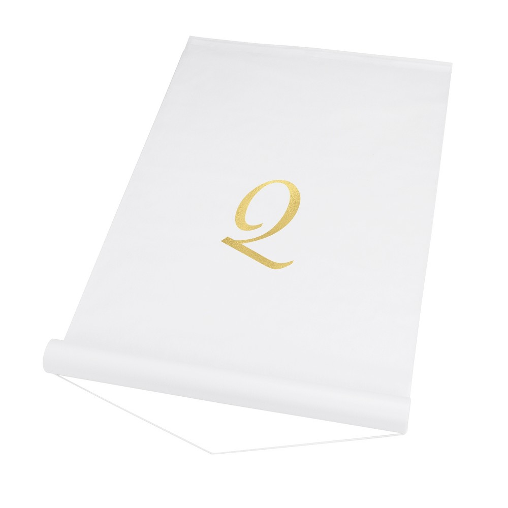 Cathy's Concepts White Personalized Wedding Aisle Runner - Q