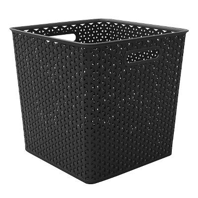 Cube Storage Basket - Black - Room Essentials™