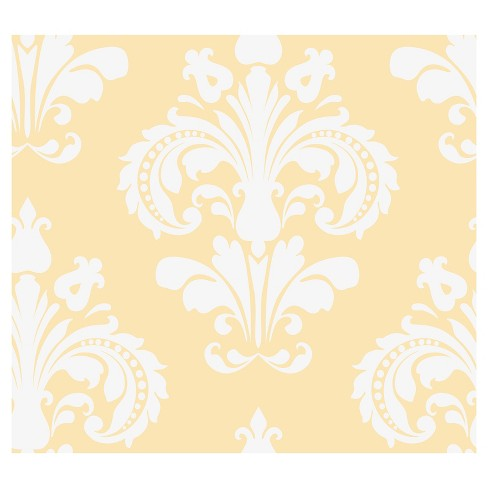 Devine Color Chantilly Peel Stick Wallpaper Yellow White Target