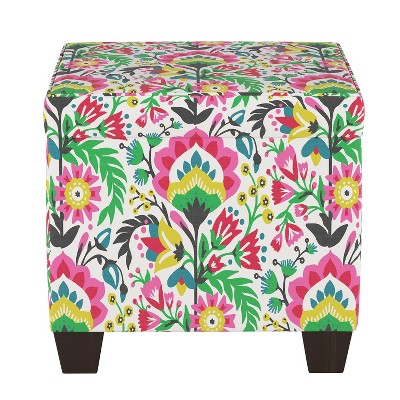 Pattern Fairland Square Storage Ottoman Bright Floral - Threshold™