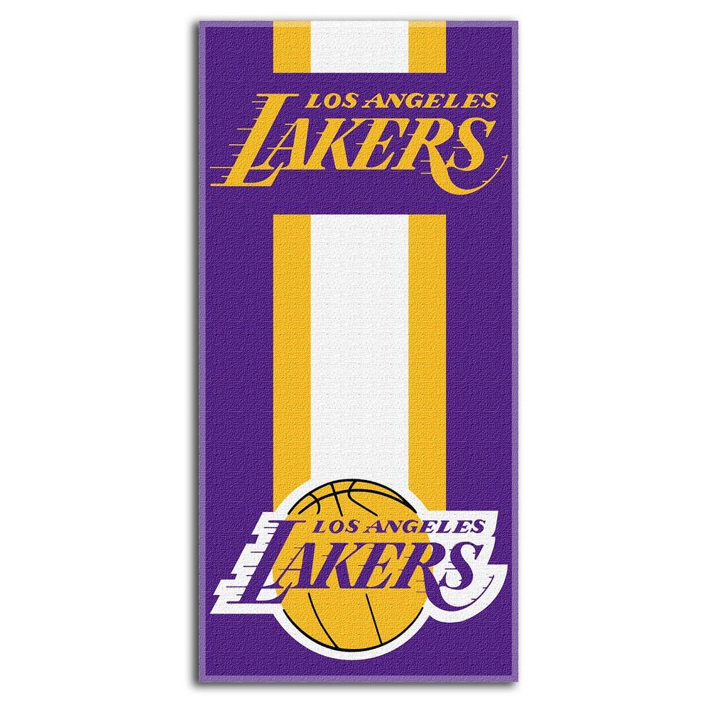 Los Angeles Lakers Northwest Zone Read Beach Towel