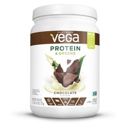 Vega Protein and Greens Tub Vegan Drink Mix - Chocolate - 18.4oz