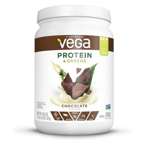 Vega Protein and Greens Tub Vegan Drink Mix - Chocolate - 18.4oz - image 1 of 3