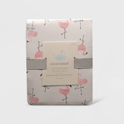 Crib Fitted Sheet Flamingos - Cloud Island™ Pink/White