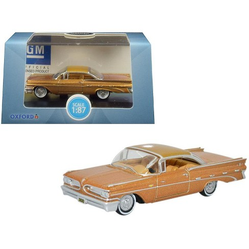 1959 Pontiac Bonneville Coupe Canyon Copper Metallic 1/87 (HO) Scale Diecast Model Car by Oxford Diecast - image 1 of 1