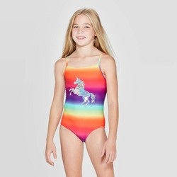 Girls' Flip Sequin Stay Magi-Cool One Piece Swimsuit - Cat & Jack™