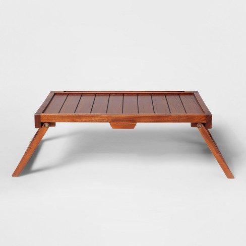 Acacia Wood Collapsible Bed Tray - Threshold™ - image 1 of 4