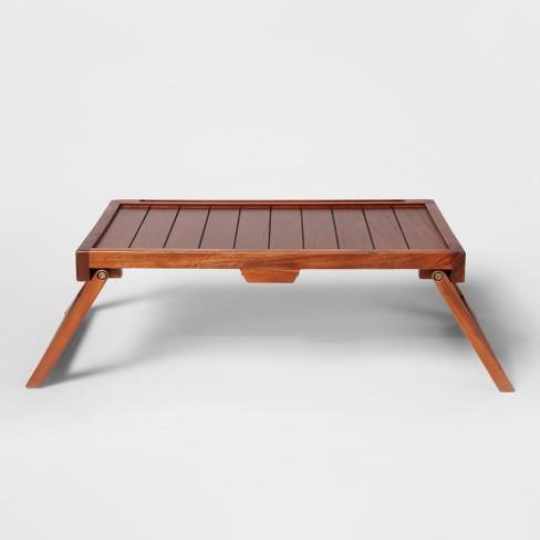 Acacia Wood Collapsible Bed Tray Threshold Target