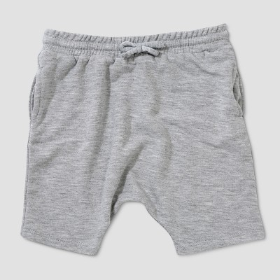 Baby Boys' Afton Street Slouchy Fit Jogger Shorts - Light Gray 3-6M