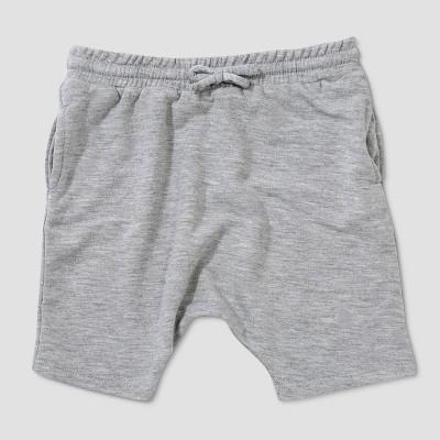Baby Boys' Afton Street Slouchy Fit Jogger Shorts - Light Gray 6-9M