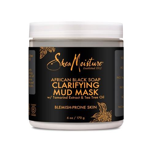 SheaMoisture African Black Soap Clarifying Mud Face Mask - Tamarind & Tea Tree Oil - 6oz - image 1 of 3