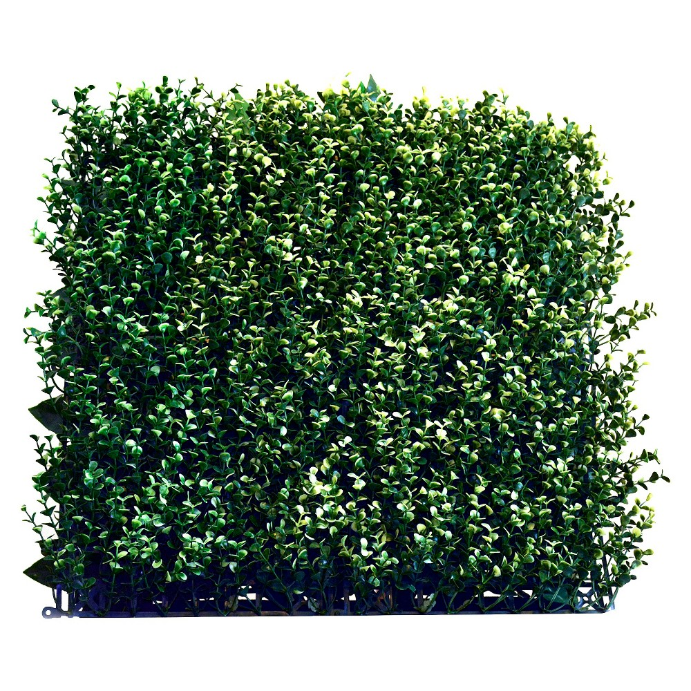 Image of Artificial Myrtle Panels, Set of 4, Alpine Green