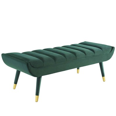 Guess Channel Tufted Performance Velvet Accent Bench - Modway